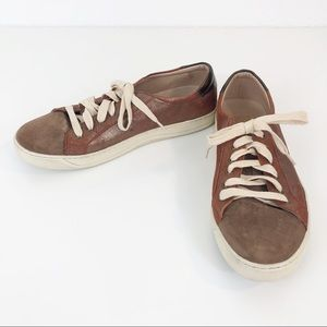 Johnston & Murphy Brown Copper Leather Sneakers